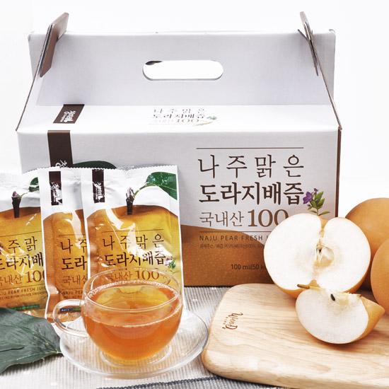 [나주직송] 나주맑은 도라지 배즙 1box(50포)