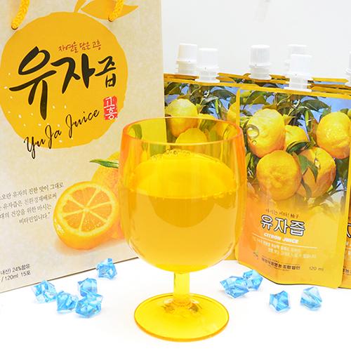 무농약 고흥 유자로 만든 유자즙 120ml×30팩