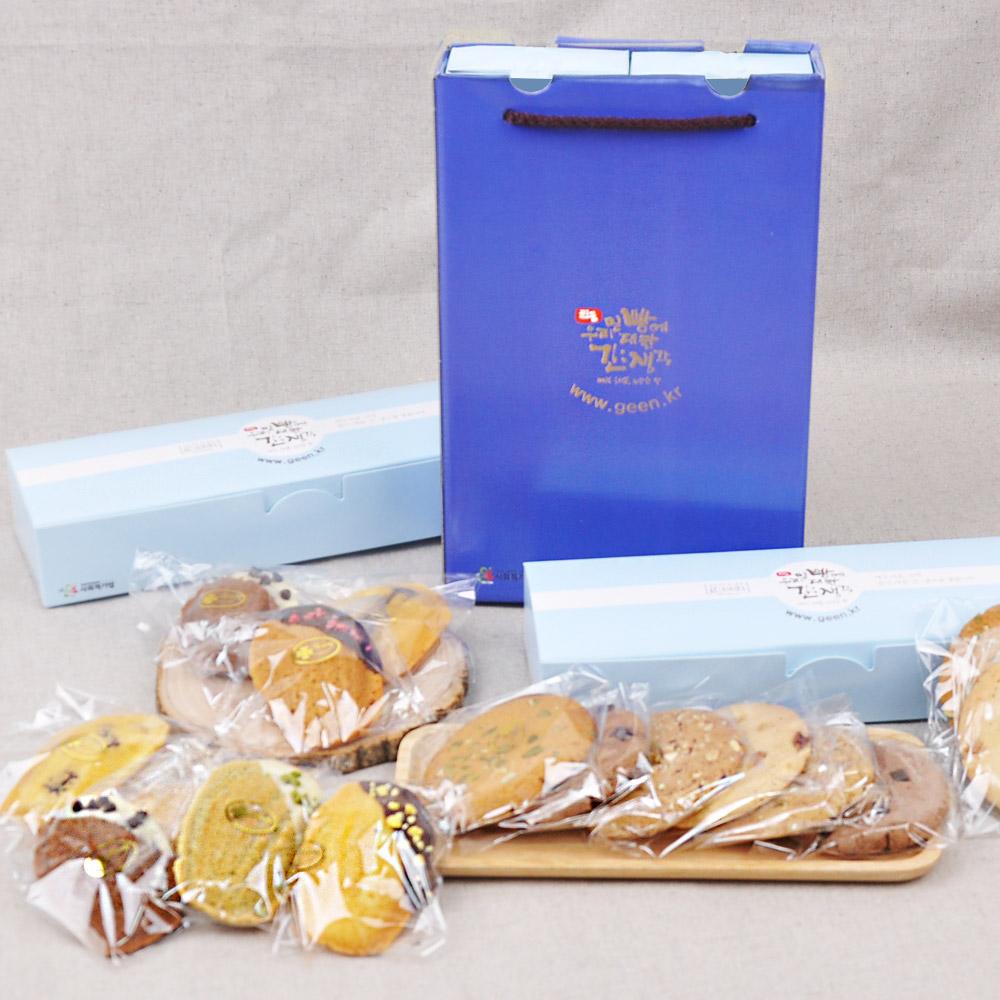 사회적 기업에서 만든 수제 마들렌 쿠키 세트 (쿠키 50g 8개입 + 마들렌 22g 8개입)